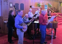 The Old Time Gospel Band during worship
