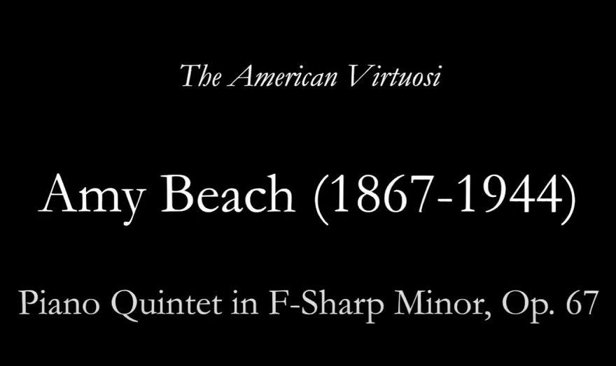 36. Piano Quintet in F-Sharp Minor, Op. 67, III Allegro agitato